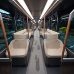 The overhead LED mood lighting keeps the interior quite bright in the morning, and dim at night. Read more: http://uk.businessinsider.com/photos-of-russias-futuristic-new-tram-2015-1?op=1#ixzz3UjhSr0F4