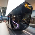 The Russian One is electric and can run for 50 miles. Read more: http://uk.businessinsider.com/photos-of-russias-futuristic-new-tram-2015-1?op=1#ixzz3Uji4to8
